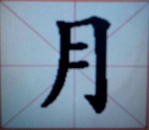 月字在田字格上怎么写 完美作业网