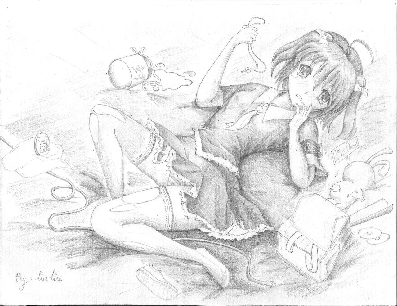 素描玫瑰花纹身手稿图片   铅笔画玫瑰花带花瓶