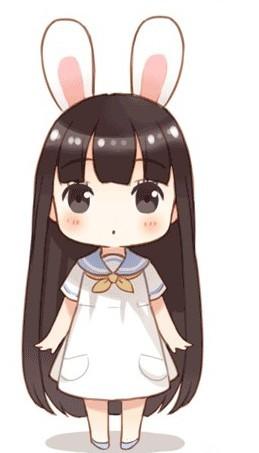 一个齐刘海头顶兔耳朵蝴蝶结的人物叫什么啊,好萌,什么动漫里的?