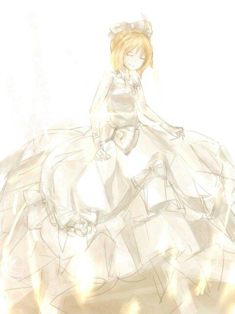 saber十周年婚纱手办