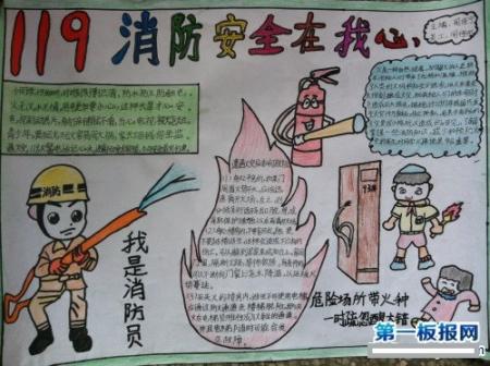 消防安全手抄报图片简单又漂亮