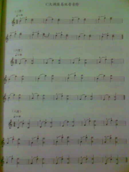 求音乐:c大调简易双音音阶图片