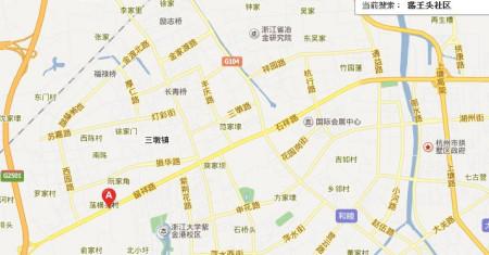 想知道杭州市三墩镇荡王头社区西湖区看守所的具体位置,附近有什么图片