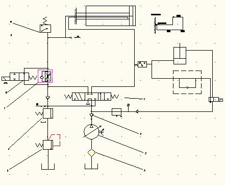 这个液压系统原理图的油路是怎么走的?图片