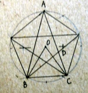精确画五角星画法的证明图片