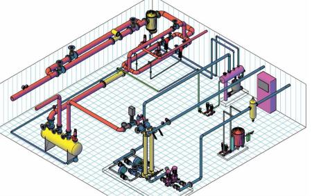 水暖管道图纸,是三维的,跟真的一样,是用什么软件画的图片
