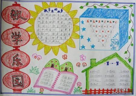 """""""一年级数学手抄报图片"""