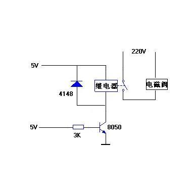 (继电器是用来连接220v的电磁阀的)图片