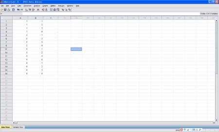 下面这张图是spss中自动生成的试验设计表.图片