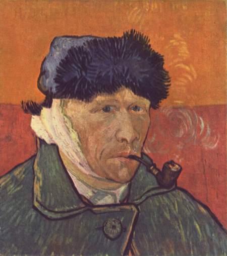 文森特梵高《割耳朵后的自画像》现收藏于何处?图片