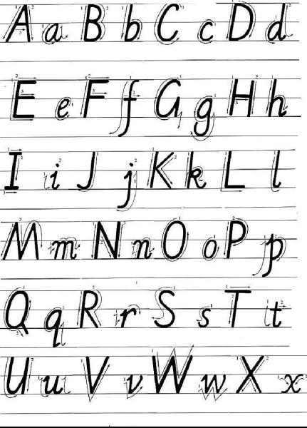小写字母r的标准写法图片