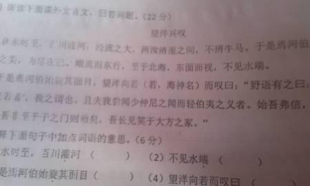 翻译文言文(望洋兴叹)图片
