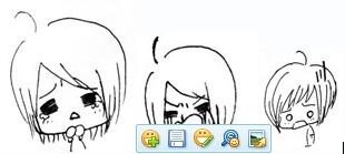 求一个简笔画大头小女孩的qq表情图片