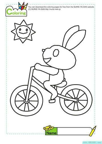 会画自行车么?简单又好看滴图片