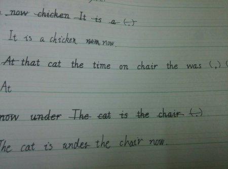 六下《英语抄写》p49页连词成句答案图片
