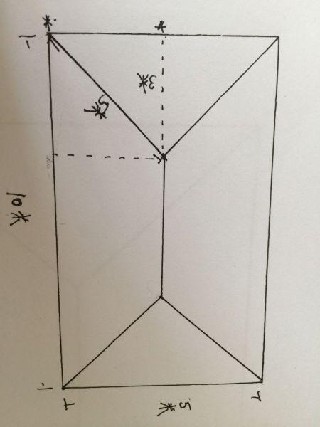 问:树脂瓦安装,算每块板子的长度,我想知道图上虚线三角形内的每块图片