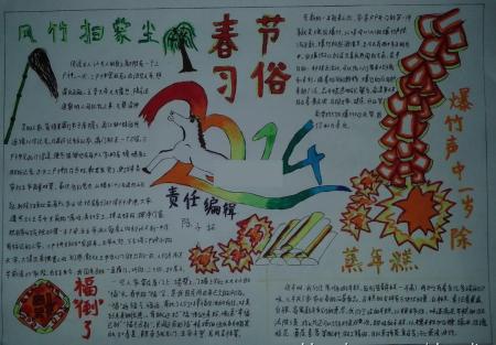 藏族春节手抄报图片