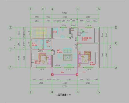 农村房子160平怎么设计啊平面图得有四个房间洗澡间厨房客厅帮忙解决图片