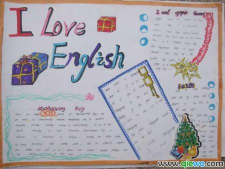 七年级下学期英语手抄报