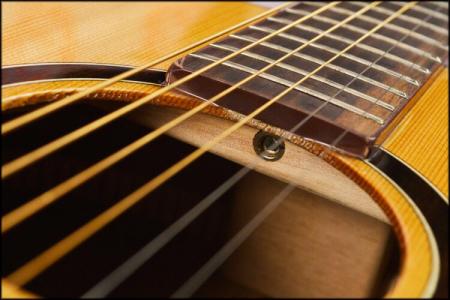 如何分辨民谣吉他 古典吉他 电吉他 这三者的琴弦图片