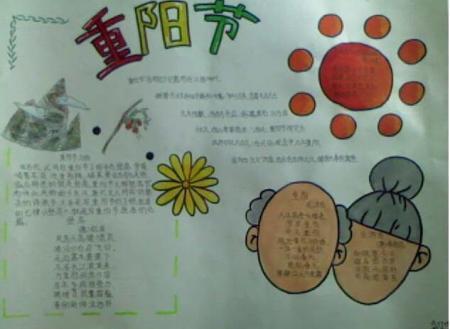 关于重阳节的手抄报,要图片