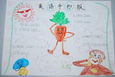 三年级上册英语知识手抄报图片大全(用汉字写的)图片