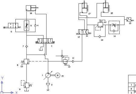元件3,4,5,7设计一个液压阀块图片
