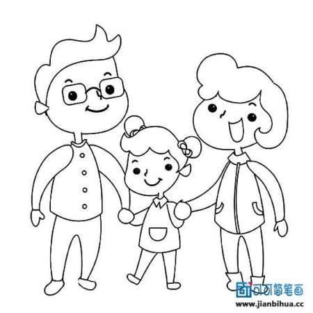幼儿园一家三口,爸爸,弟弟,妈妈画像图片集