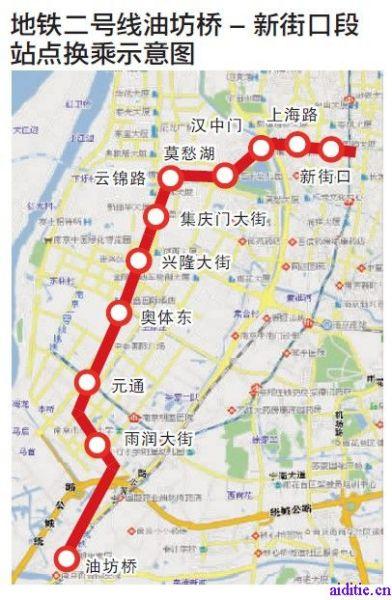 南京地铁1c�{�ޮg� �_南京地铁二号线沿途都有些什么景点啊