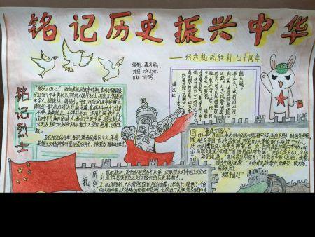 《铭记历史,圆梦中华》的手抄报