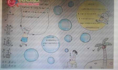 有趣的普通话手抄报接下来该怎么画呀?求解答!