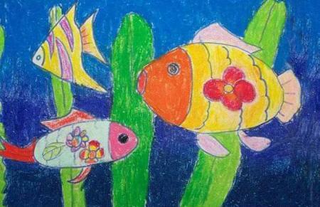 求小学生美术作品图片