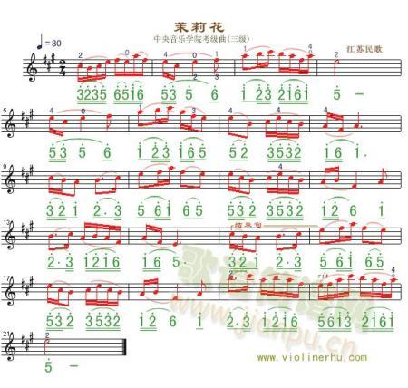 茉莉花钢琴简谱图片