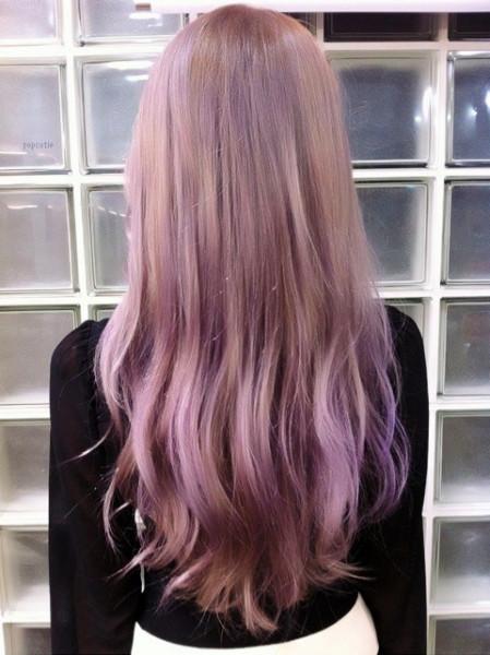 挑染了紫的,价格一百足够了,因为你短发,用的又不多,如果你是黑头发图片