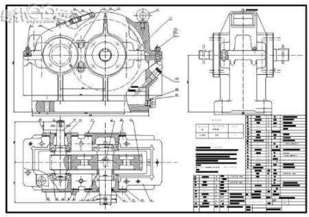 级减速器装配图