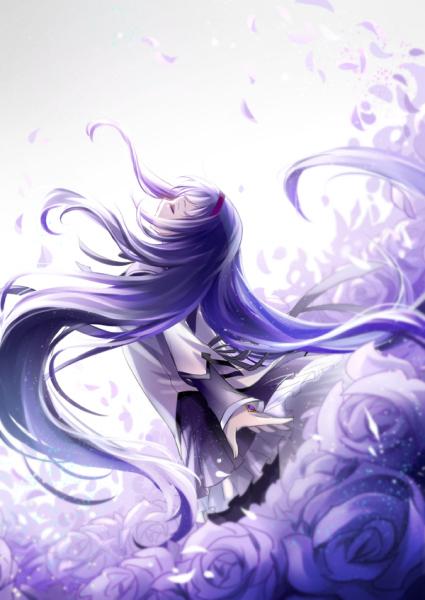 求紫发动漫美女 百度知道