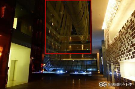 北京瑜舍酒店大堂天花的网是什么材质图片