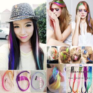 头发挑染紫色和蓝色容易掉色吗图片