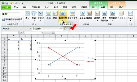 永中office中的excel 中的图标可以添加数据标签吗