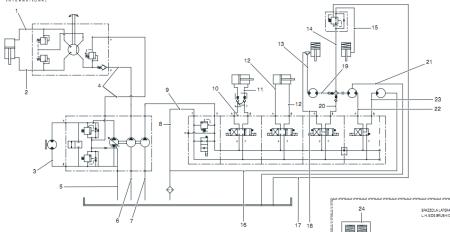 道路清扫机液压系统回路图标注求解图片