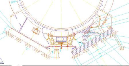 2*13m球磨机滑履支撑装置图.特别是液压管路的设计.图片