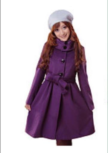 紫色半裙配什么上衣_紫色羊绒大衣配什么颜色围巾?