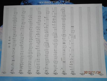 柯南萨克斯五线谱图片