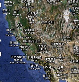 加州是那个州啊?我在美国地图上找不到啊!