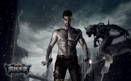 色狼族成人电影网_不是电影,就是图上写的,游戏《神魔大陆·狼族来袭》的写真壁纸.