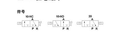 这个气动电磁阀的线路图表示什么意思图片