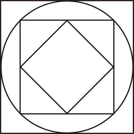 小学数学:已知最外边的正方形面积为60平方厘米,求最里面的正方形的图片