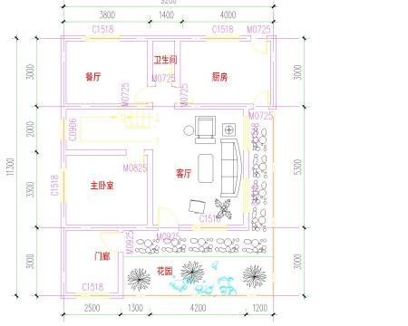 图片 农村房屋设计图宽8米长10米