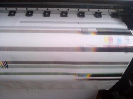 我买的天彩9160压电写真机,出图过长,10厘米长出1.2厘米.