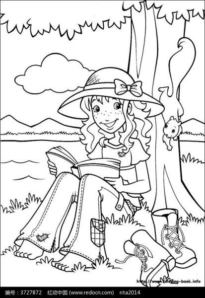 谁能给我一张意境画,就是一个人坐在树下看书的画,可以是素描也可以是图片